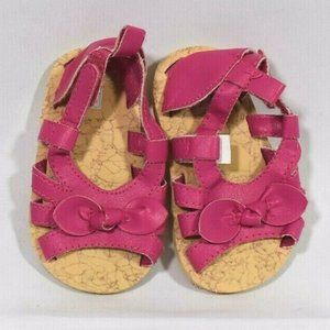 Carters Baby Girls PINK Bow Faux Leather SANDALS